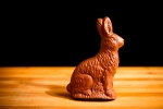 "5"" Solid Chocolate Bunny, available in white, milk or dark chocolate."