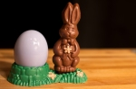Chocolate Egg and Bunny Holder (edible bunny included)